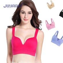 JUYABEI Women Adjustable Sports Bra Girls Fitness Training Yoga Shockproof Breathable Underwear Vest Hot Sale Padded Running