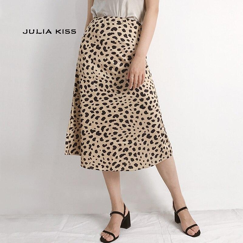 talla 40 10c5f 1b90d Comprar Faldas Largas De Leopardo Con Estampado Online ...