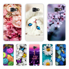 Phone Case For Samsung Galaxy A3 A5 A7 2016 2017 Soft Silicone TPU Cute Cat Painted Back Cover For Samsung A6 A8 Plus 2018 Case(China)
