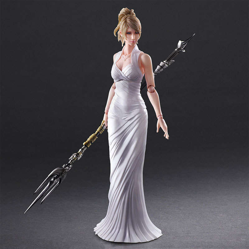 Play Arts KAI <font><b>Final</b></font> <font><b>Fantasy</b></font> <font><b>XV</b></font> 15 Lunafreya Nox Fleuret PVC Action <font><b>Figure</b></font> Collectible Model Toys Doll 25cm image
