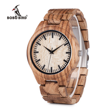 BOBO BIRD V-G23 Zebra Wooden Watches Mens Luxury Brand Quart