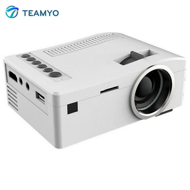 Оригинальный UNIC полный 1080 P HD портативный мини-проектор из светодиодов видео цифровых проекторов мультимедийный плеер входы av-vga USB микро-hdmi UC18