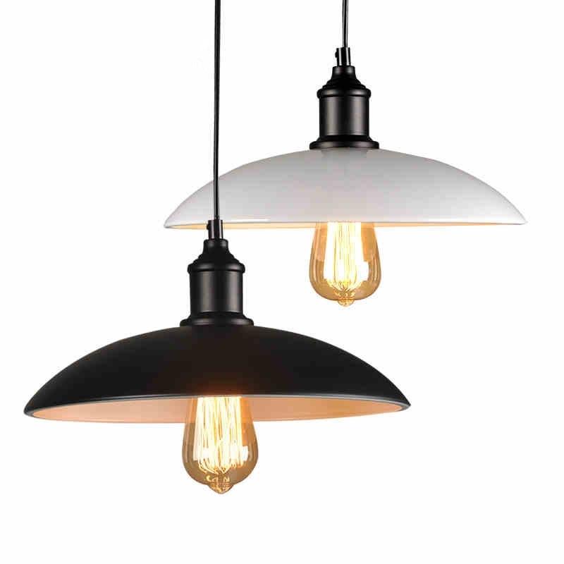 32 см часто красивый подвесной светильник Белый/Черный Люстра светильник Алюминий подвесной светильник свет для столовой Спальня E27 ZDD0014