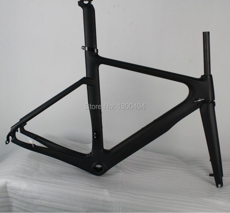 Bike Carbon Road Frame Di2 system Disc brake Frameset Fork Seat Post Clamp Headset KQ-RB202 Factory Outlets 2017 newest 1 1 disc road bike frame 4 sizes for disc carbon frame ultra light frame fork seat post headset bb adapter thru axel