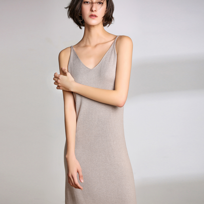 LHZSYY 19 Spring New Womens Knit Long Camisole Female inside the Bottoming shirt sexy Summer pajamas wearing a Skirt