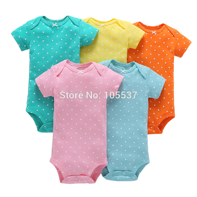 2019 new born baby boy girl clothes unisex newborn Infant clothing set cotton short sleeve o-neck bodysuit summer outfit suit 2