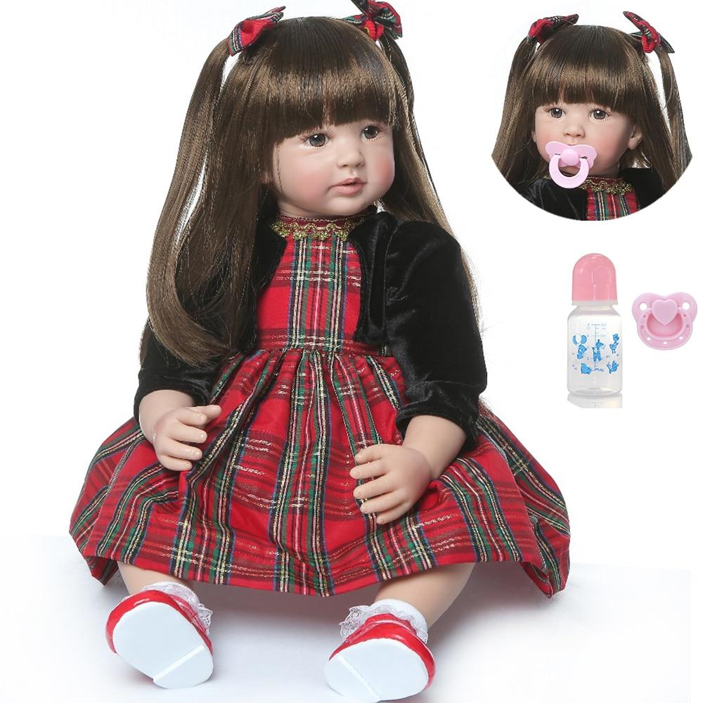 NPK 60cm grande 6-9 mois reborn bambin poupée adorable réaliste nouveau-né bebe Bonecas reborn enfant jouet fille silicone reborn bébé poupée