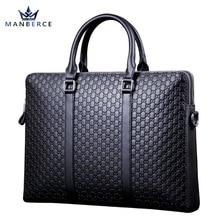 Luxus Tragbare kommerziellen stempel muster rindsleder mann aktenkoffer, männer leder handtasche