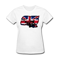 Women UK Flag Custom Design T Shirt With Go Cal Crutchlow In MotoGp Hilarious T Shirt