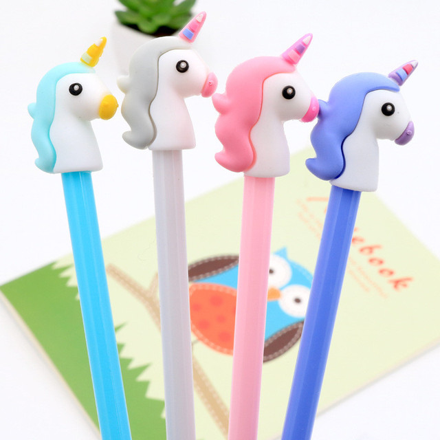 4pcs Creative Gift Unicorn Party Souvenirs Gel Pen Flamingo Party Unicorn Birthday Decorations Kids Christmas Gift Party Favors