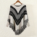 New Arrival Women's Sweaters Round Neck Batwing Sleeve Tassels Decoration Women Sweaters and Pullovers Fashion Poncho Women