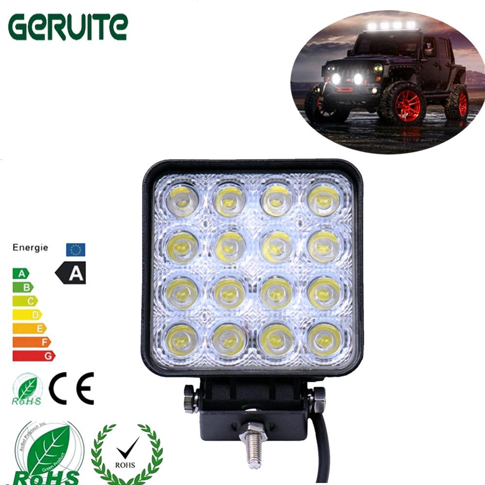 1Pcs 16 * 3W LED 48W 6000K Yük maşını Jeep SUV ATV Suya davamlı - Avtomobil işıqları - Fotoqrafiya 2