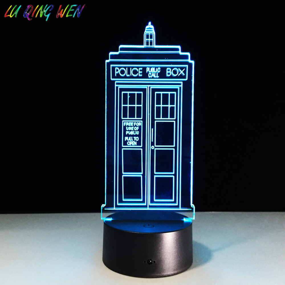 British Police Boxes 3D Night Lamp TARDIS Bedroom Decor Lamp Telephone Kiosk Novelty Lighting Callbox Led Night Light Doctor Who