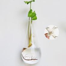 Подвесная прозрачная домашняя стеклянная настенная подвесная Ваза Бутылка растительный цветочный шар Декор Террариум Алмазный Стиль