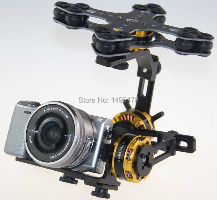 DYS 3 Axis Gimbal Control Mount Kit + 3pcs 4108 Brushless Motor For Sony NEX ILDC Camera Photography FPV