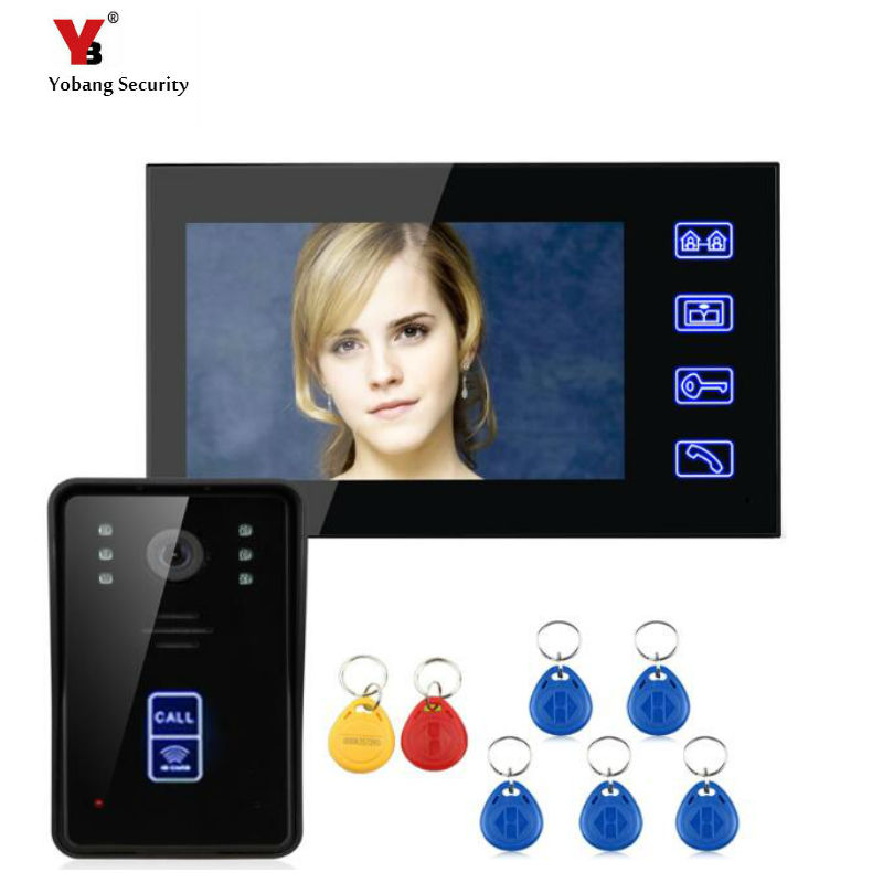 Yobang Security 7 inch touch keypad Video Door bell Phone Video Intercom Entry System Waterproof Doorbell phone Camera Yobang Security 7 inch touch keypad Video Door bell Phone Video Intercom Entry System Waterproof Doorbell phone Camera