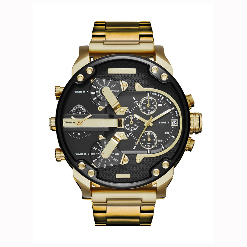 SexeMara Top Brand Large Dial Quartz Stainless Steel Style