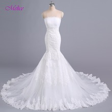 fsuzwel Melice Gorgeous Chapel Train Mermaid Wedding Dress