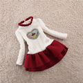 2017 New Children Winter knitting sweater Dress For Girl Princess Girls Dresses knitted dresses Kids Clothes Vestidos