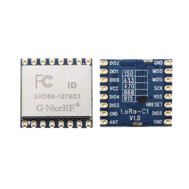 10pcs/lot Lora1276-C1 FCC Certified 915MHz 20dBm Sx1276 Chip Long Range 4Km RF Wireless LoRa Module