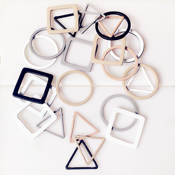 Colorful Round Triangle Square Hollow Metal Findings For Jwelry Making Diy Earrings Hand Made Accessories Materials