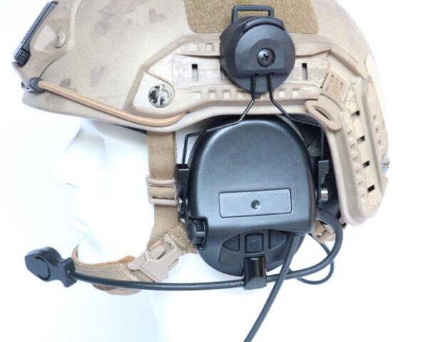 Image 4 - TAC SKY SORDIN Helmet fast rail bracket Silicone earmuff version Noise reduction pickup headset BK