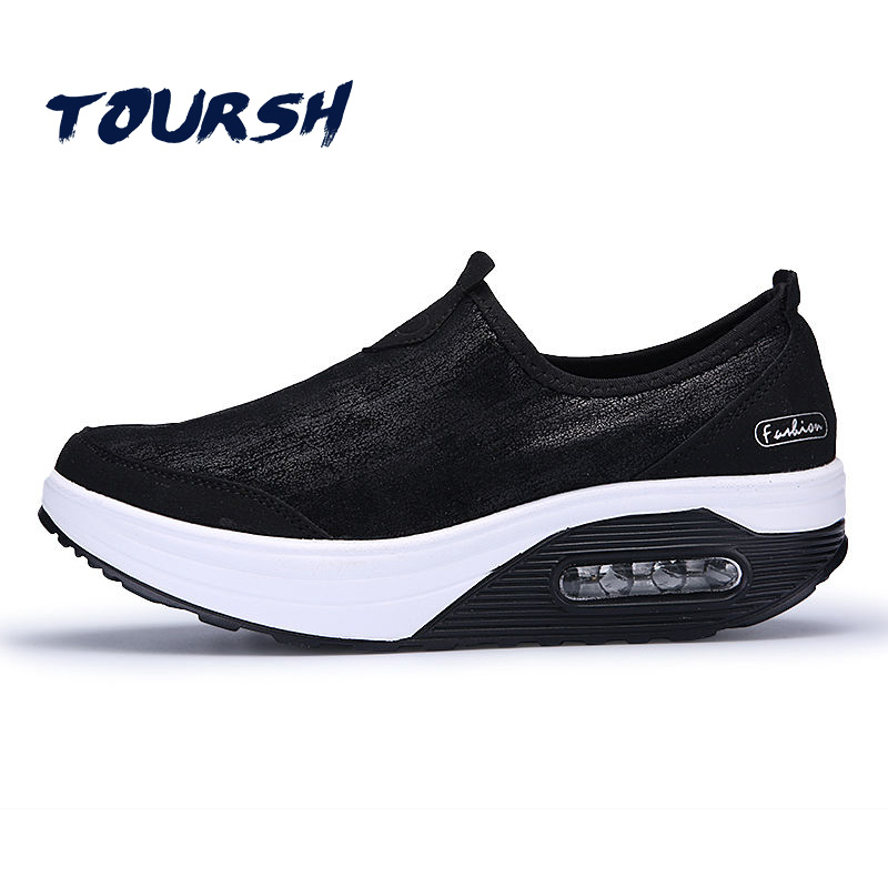 TOURSH 2018 New Women Flat Platform Shoes Loafers Ladies Leather Moccasins Sneakers Slip On Women'S Casual Shoes Tenis Feminino instantarts leopard women casual sneakers shoes golden breathable light mesh summer flat shoes woman slip on tenis feminino 2018
