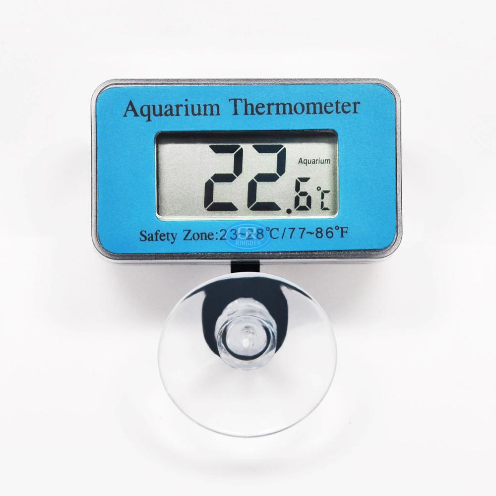 RINGDER AT-1-50 ~ 70C Digital Indicador de Temperatura Do Tanque de Peixes de Aquário Submersível Termômetro Construído em Sensor de NTC sem fio 4 pcs