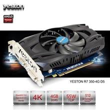 Yeston Radeon R7 350 GPU 4GB GDDR5 128bit Gaming Desktop computer PC Video Graphics Cards support VGA/DVI/HDMI PCI-E X16 3.0