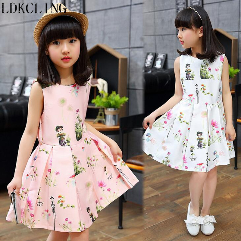 Flower Girl Dresses Summer Children Dress 2017 Brand Costume Robe Enfant Fille Flower Kids Clothes Party Dress hello kitty 2-10Y  girls party dresses silk chiffon 2017 brand toddler dress princess costume for kids clothes flower robe enfant children dress