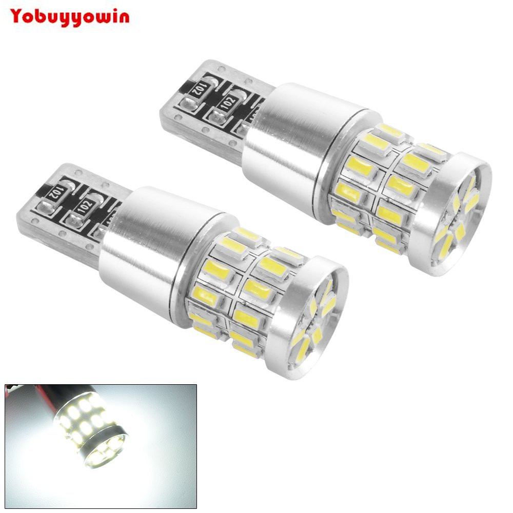 4 Pieces Pure White <font><b>T10</b></font> <font><b>3014</b></font> <font><b>30SMD</b></font> Car LED Canbus Error Free Replace Side Indicator Light Width light light,Backup Bulbs image