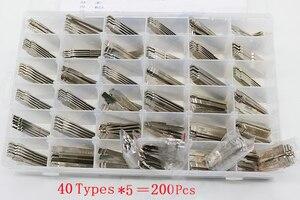 Image 1 - Выгравированная шкала контрастной линии режа зубов Заготовка ключа замка зажигания автомобиля режущие зубы лезвие ключ слесарный инструмент для сетки (40 Тип 200 шт.)