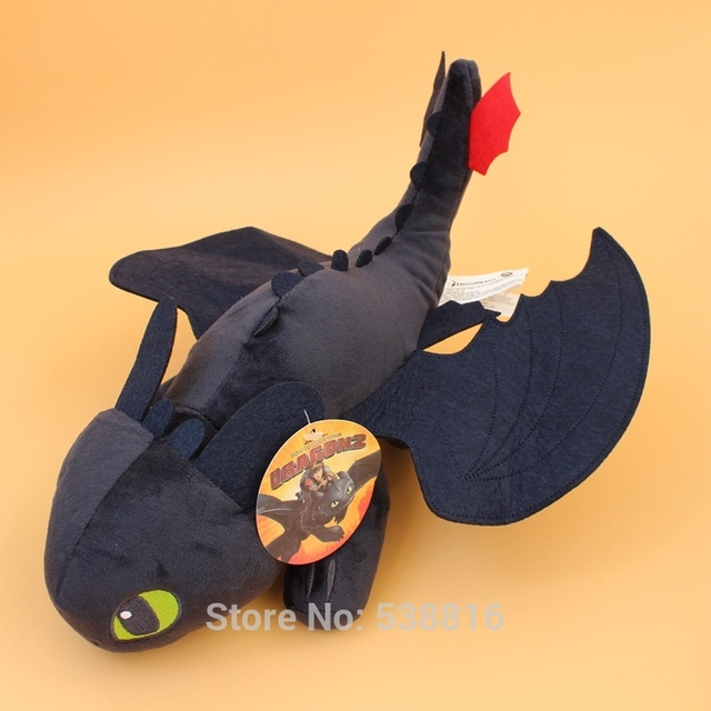 "Wholesale 50 Pcs/Lot How to Train Your Dragon Figure Night Fury Toothless Dragon Stuffed Animals Soft Toys 16"" 40 cm"