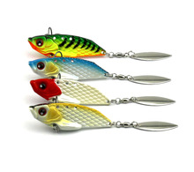 1pcs 6cm 20g 4# hooks sea wobblers metal hard sequin VIB fishing lures bass peche trout fishing baits pesca fishing tackles