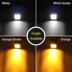 Image 2 - שיתוף אור 3 אינץ 12D Led Worklight 48W מהבהב Strobe לבן ענבר מנורת עבודה לרכב טרקטור משאית לאדה נהיגה ערפל אור 12V 24V