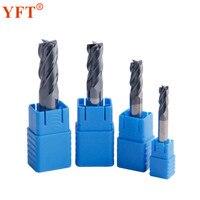 4 Pcs Tungsten Carbide End Mill Diameter 6 8 10 12mm Router Bit 4 Blade Tungsten