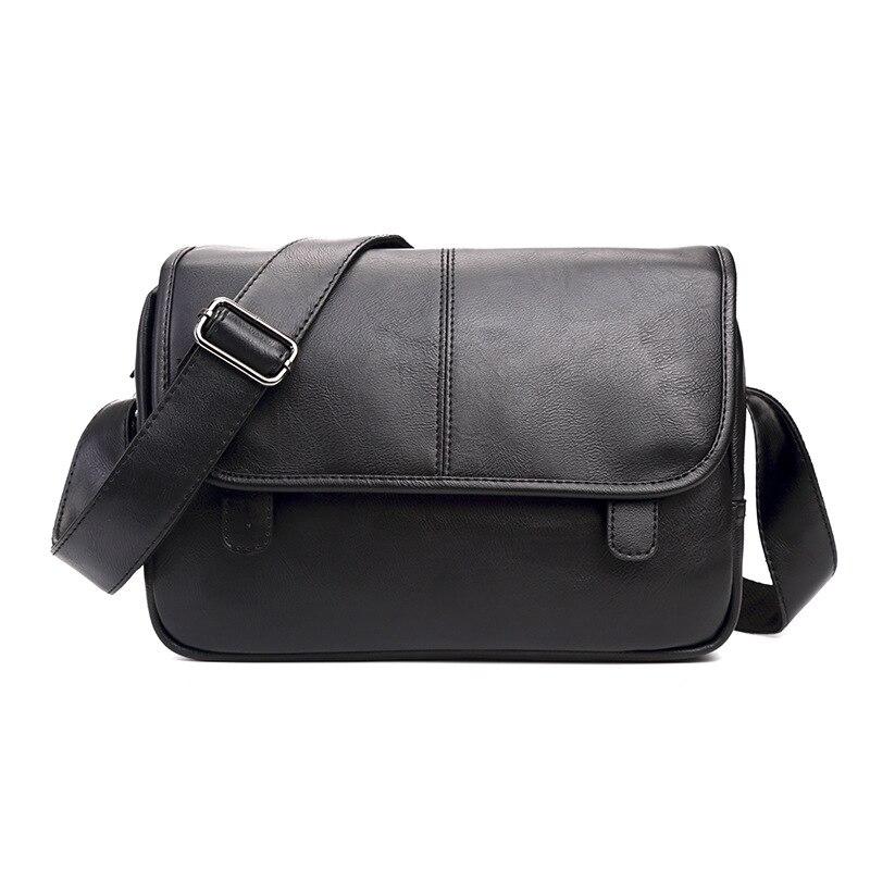 New High Quality PU Leather Business Casual Crossbody Bags Men Messenger Bags Fashion Small Shoulder Bag Business Men Handbags