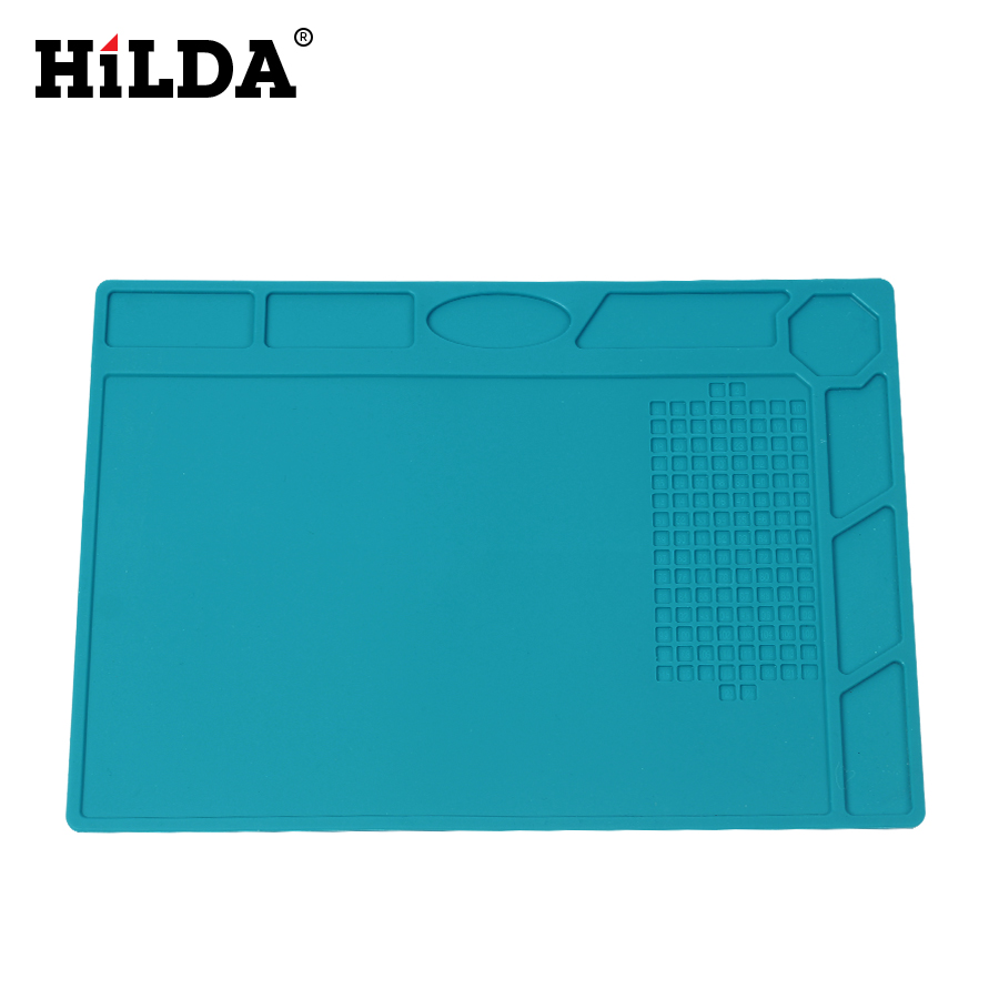 HILDA Mat Silicone Heat Gun Soldering Station Heat-resistant Soldering Mat Maintenance Platform Insulation Pad Repair Tools silicone heat resistant mat orange