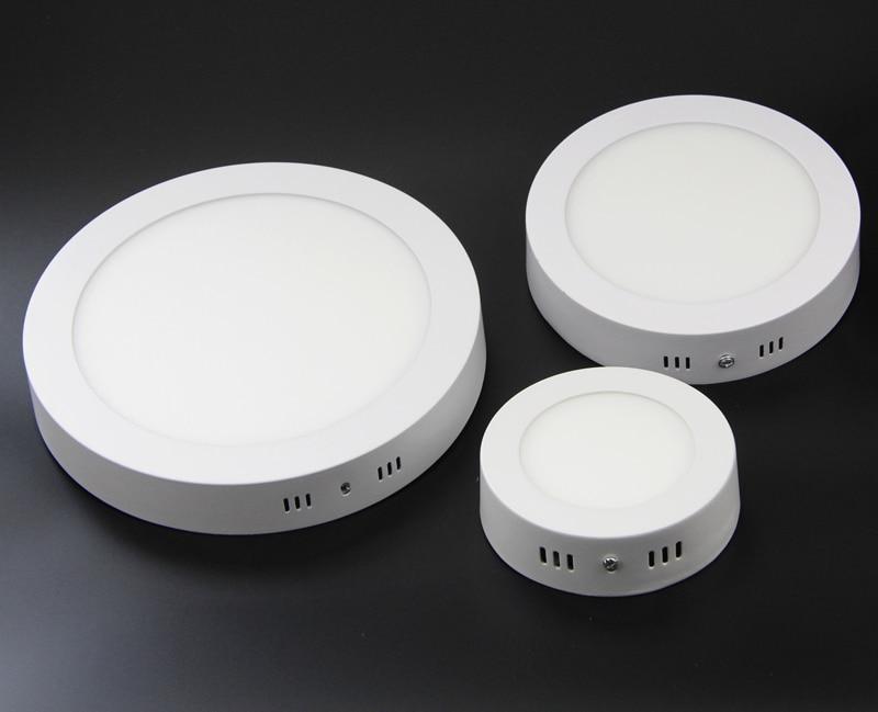 Přisazené LED podsvícení Stropní panel Osvětlovací lampa 6W 12W 18W 85-265V Povrchové LED Down Light 1ks / lot, doprava zdarma
