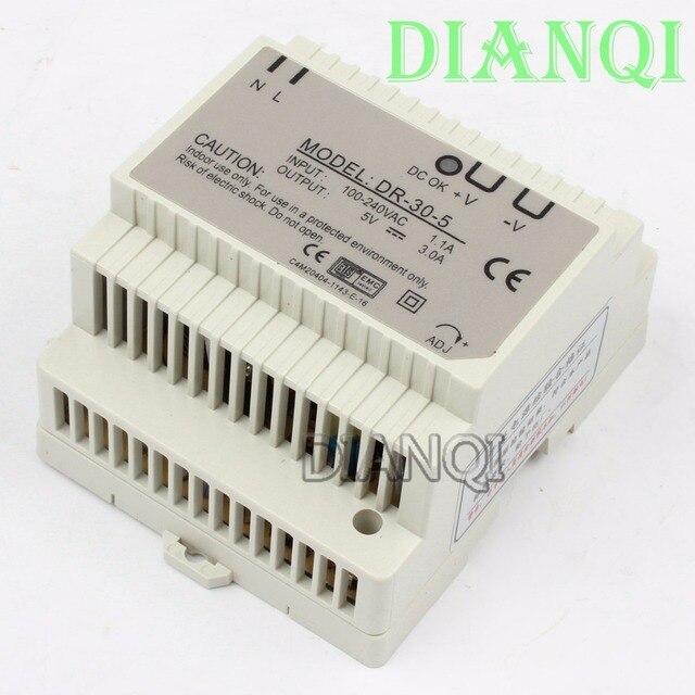 DIANQI Din rail power supply 30w 5V power suply 5v 30w  ac dc converter dr-30-5 good quality
