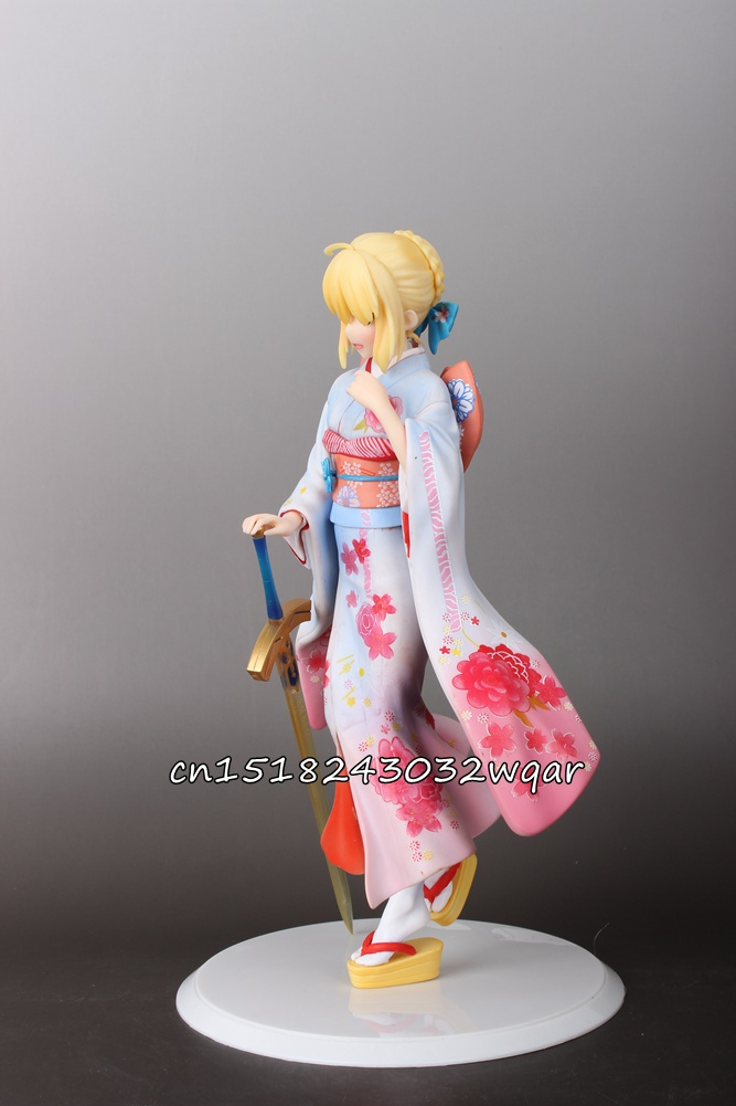 Aniplex Fate/Stay Night Saber Kimono Ver. 10 PVC Figure Toy Gift Collectibles Model Doll 278