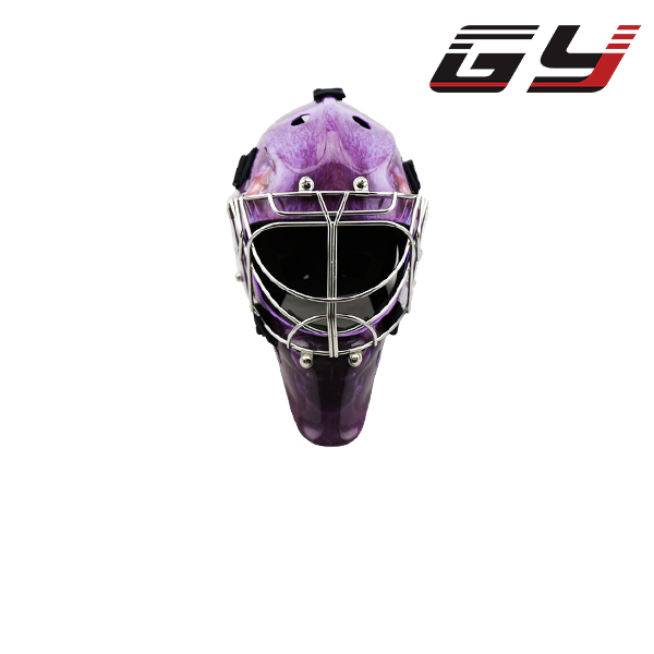 popular Water Tranfer Printing Carbon Fiber Ice Hockey Goalie Helmet Cool Style GoalIe Mask goalie mask hockey goalie helmet for goalikeeper free shipping
