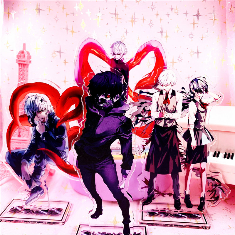 Carrinho Acrilico Figura Tokyo Ghoul Kaneki Ken Touka Kirishima