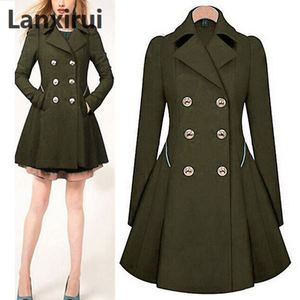Image 2 - Especially Female Coat England Style Women Spring Double Breasted Long Trench Coat Overcoat Raincoat Windbreaker Coats 5XL PLUS