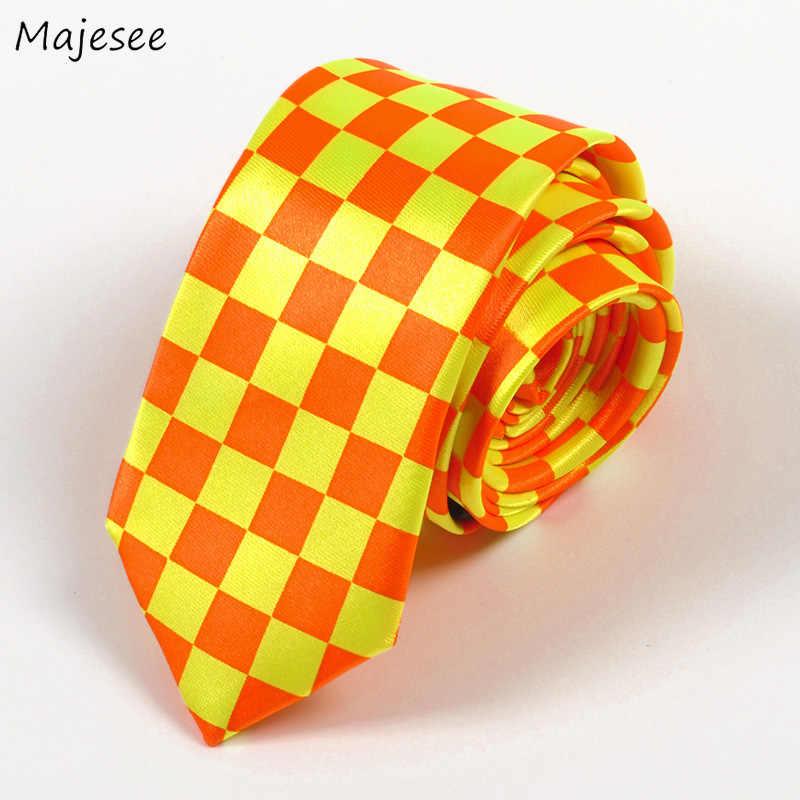 Женские галстуки в клетку с принтом горошек регулируемые британском стиле