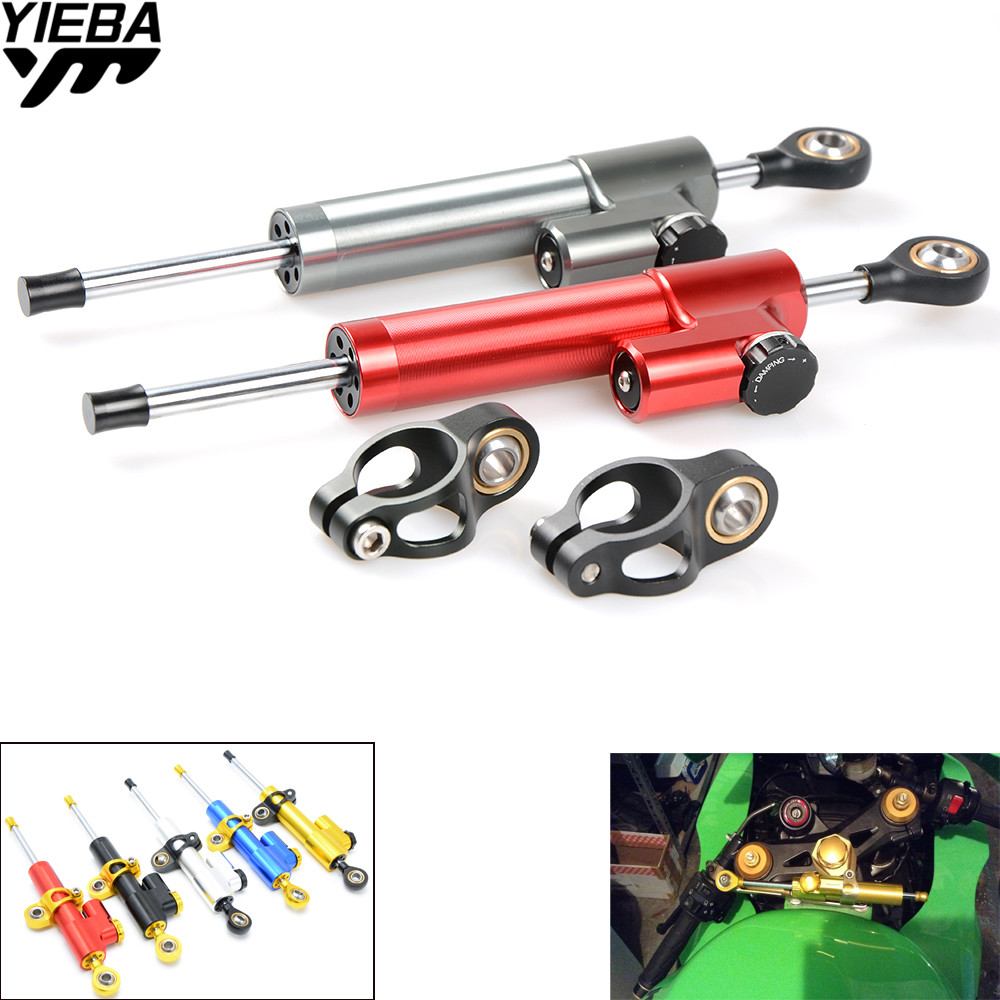 Motorcycles Adjustable Steering Stabilize Damper for kawasaki VERSYS 1000 13-14 Z1000 ZX10R ZX12R ZX6R/ZX636R/ZX6RR 00-05 ZX9R колесные диски ion alloy dually 166 matte black wheel with machined face 16x6 8x170mm