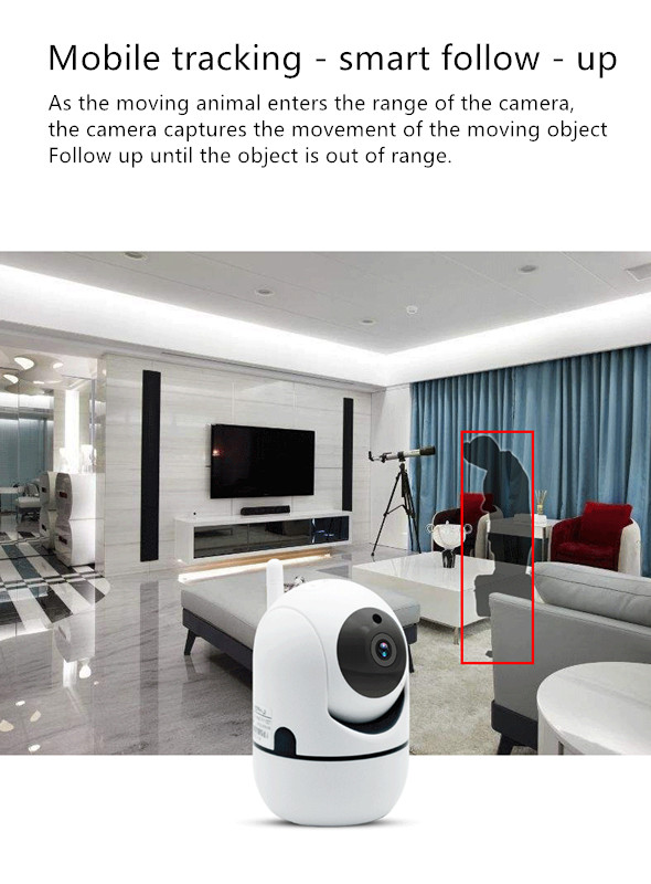 Avec 16G stockage WiFi caméra de sécurité HD vision nocturne réseau à distance caméra intelligente suivi mobile suivi intelligent