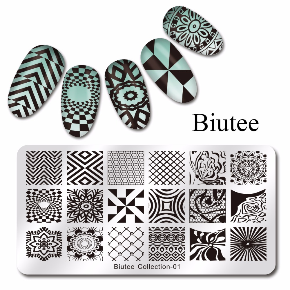 Conscientious Biutee Nail Stamping Plates Stainless Steel Nails Art Stamp Wave Net Design 12*6cm Manicure Nail Art Image Plate Jade White Nails Art & Tools Nail Art