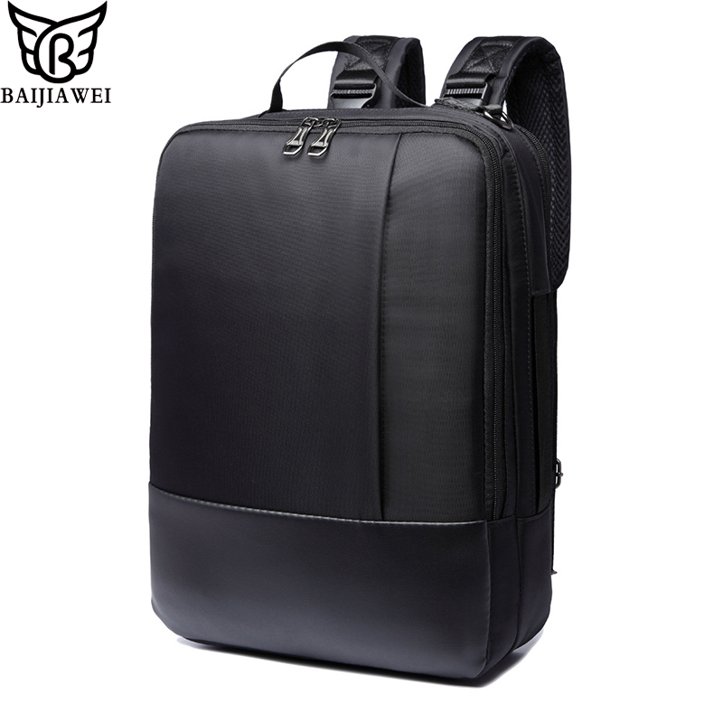 BAIJIAWEI 2017 Hot Sale High Quality Nylon Waterproof Shoulder Backpack Men s Casual Travel Laptop Bags