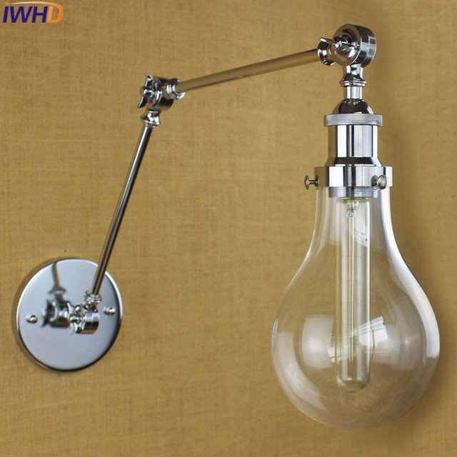 Wrought Iron Sconce Wall Lights For Home Angle Adjustable Bathroom ...